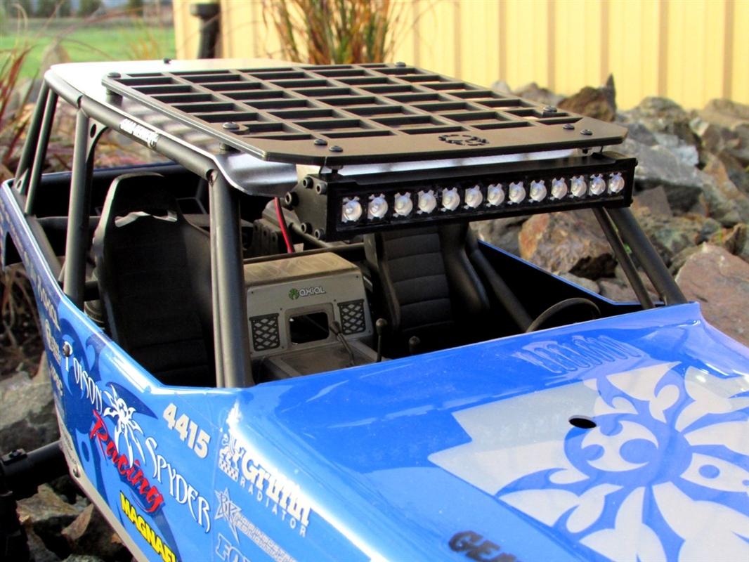 Gear Head Rc Axial Wraith White Trail Torch Plus Roof Rack