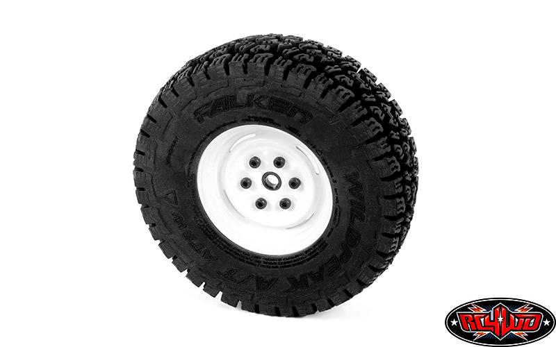 RC 4WD W0289 Vintage Yota 6 Lug Stamped Steel 1.55 Beadlock Wheels  RC4Z-W0289