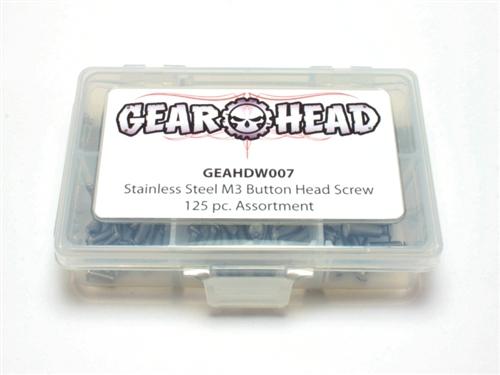 Assortment GEA1107 Gear Head RC M3 Flat Head Socket Cap Screw 125 pc