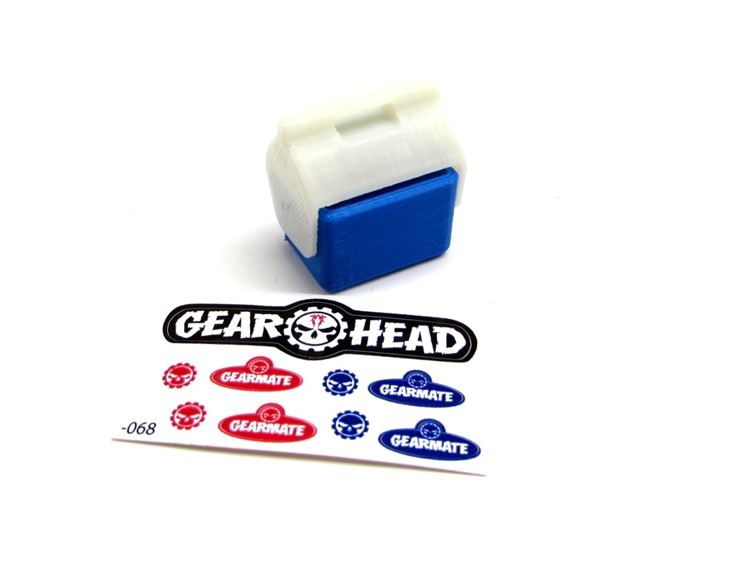 Red GEA1196 Gear Head RC 1//10 Scale Miniature Small Ice Chest