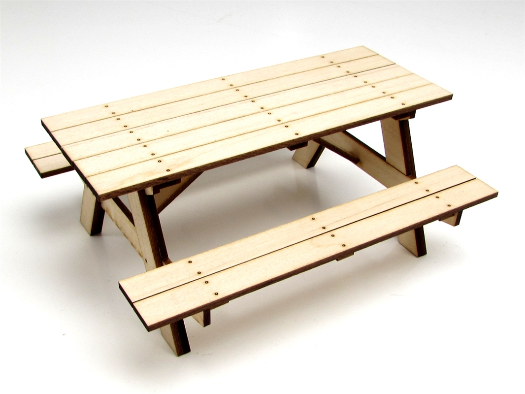 Gear Head RC 1/10 Scale Miniature Wood Picnic Table Kit ...
