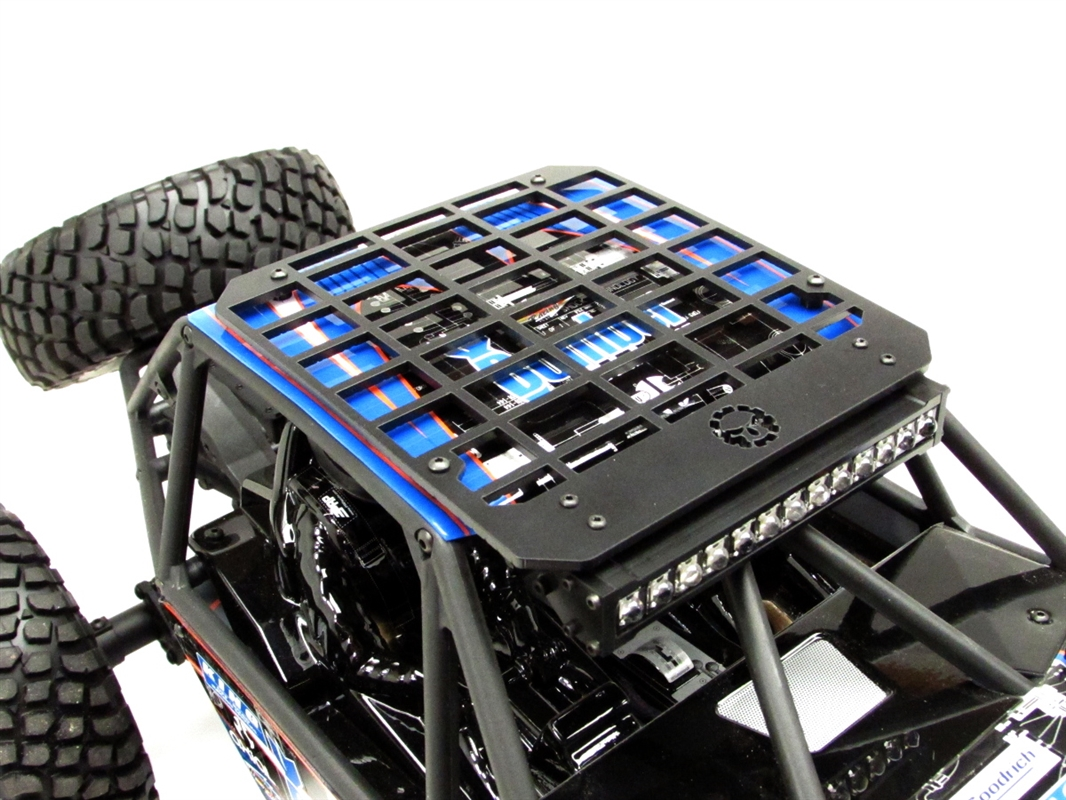 Gear head rc 110 scale bomber slim line roof rack with light bar item specifics aloadofball Image collections